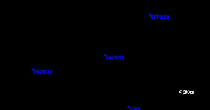 Parcela st. 5576/29 v k.ú. Plzeň 4, Katastrální mapa