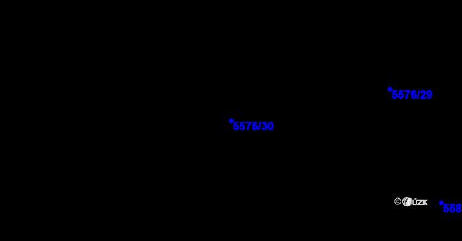 Parcela st. 5576/30 v k.ú. Plzeň 4, Katastrální mapa