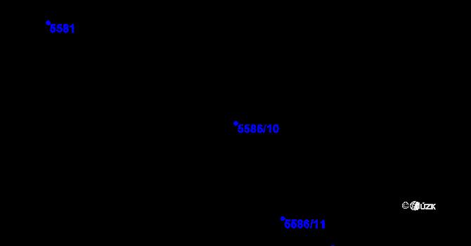 Parcela st. 5586/10 v k.ú. Plzeň 4, Katastrální mapa