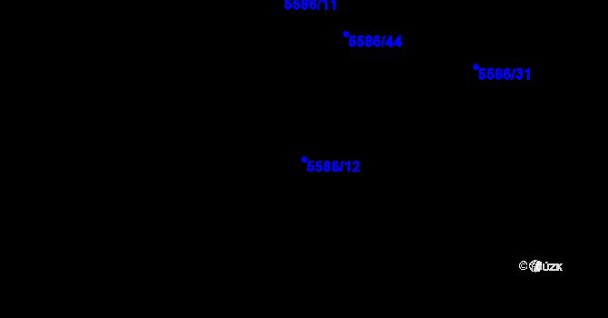 Parcela st. 5586/12 v k.ú. Plzeň 4, Katastrální mapa