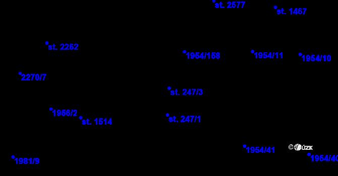 Parcela st. 247/3 v k.ú. Litice u Plzně, Katastrální mapa