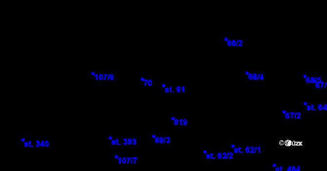 Parcela st. 61 v k.ú. Pohled, Katastrální mapa