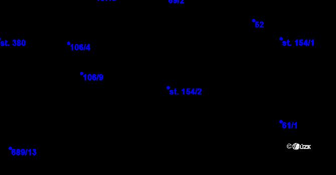 Parcela st. 154/2 v k.ú. Pohled, Katastrální mapa