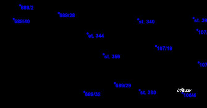 Parcela st. 359 v k.ú. Pohled, Katastrální mapa