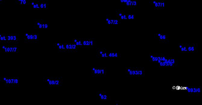 Parcela st. 464 v k.ú. Pohled, Katastrální mapa