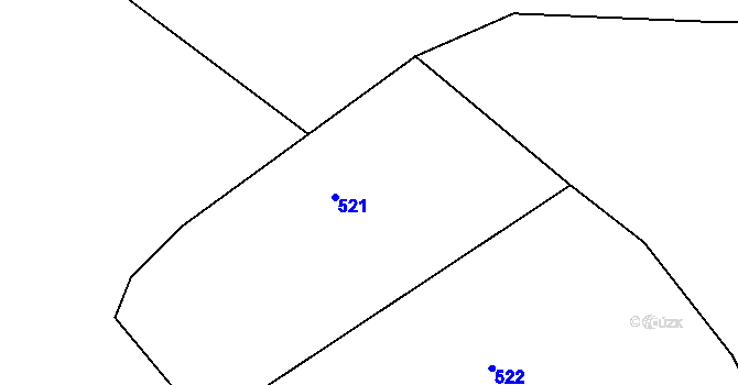 Parcela st. 63/2 v k.ú. Simtany, Katastrální mapa