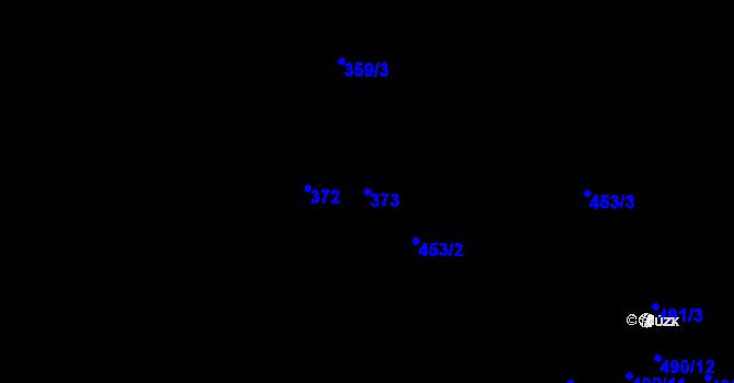 Parcela st. 373 v k.ú. Simtany, Katastrální mapa