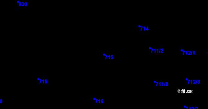 Parcela st. 715 v k.ú. Staré Město, Katastrální mapa