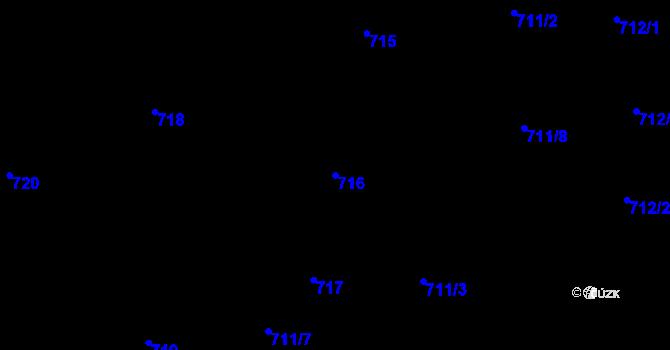 Parcela st. 716 v k.ú. Staré Město, Katastrální mapa