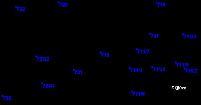 Parcela st. 719 v k.ú. Staré Město, Katastrální mapa