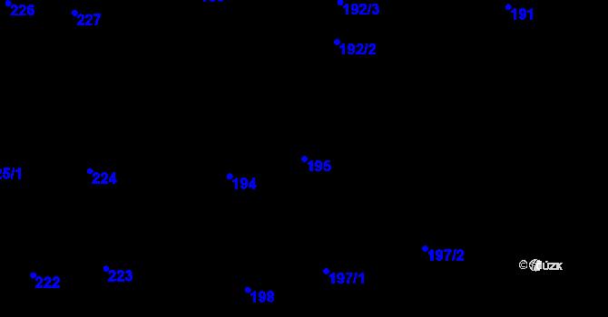 Parcela st. 195 v k.ú. Vinohrady, Katastrální mapa