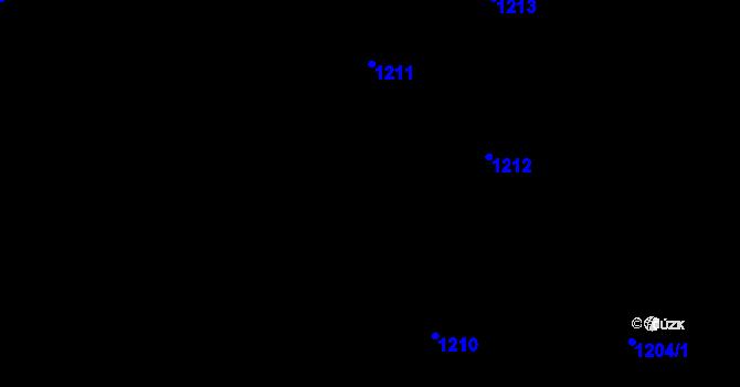 Parcela st. 1211 v k.ú. Vinohrady, Katastrální mapa