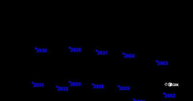 Parcela st. 2927 v k.ú. Vinohrady, Katastrální mapa