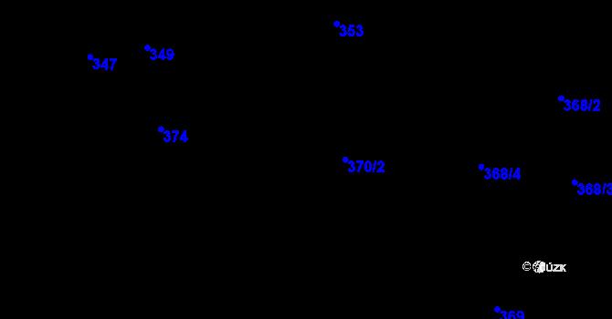 Parcela st. 370/2 v k.ú. Nové Město, Katastrální mapa