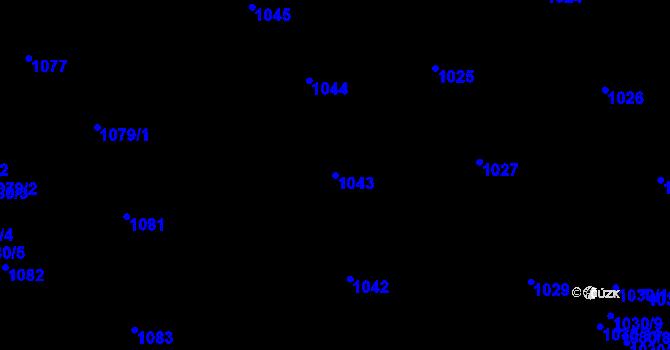 Parcela st. 1043 v k.ú. Žižkov, Katastrální mapa
