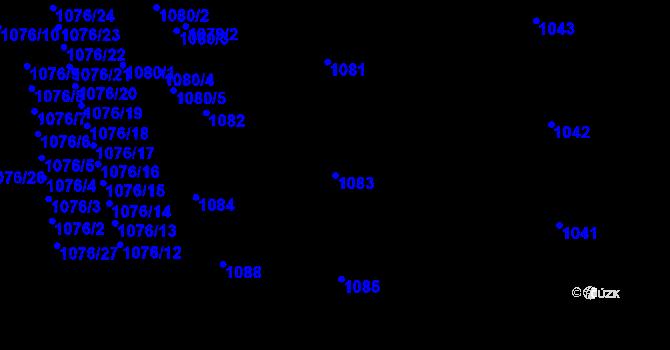 Parcela st. 1083 v k.ú. Žižkov, Katastrální mapa