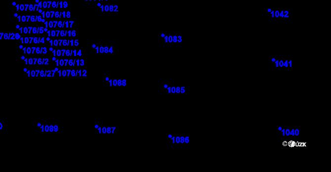 Parcela st. 1085 v k.ú. Žižkov, Katastrální mapa