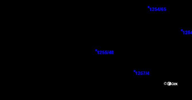 Parcela st. 1255/48 v k.ú. Krč, Katastrální mapa