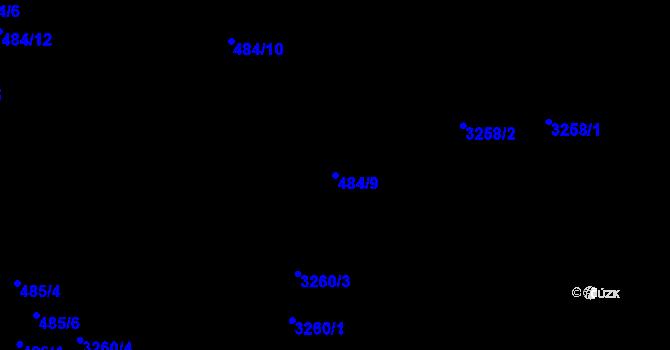 Parcela st. 484/9 v k.ú. Michle, Katastrální mapa