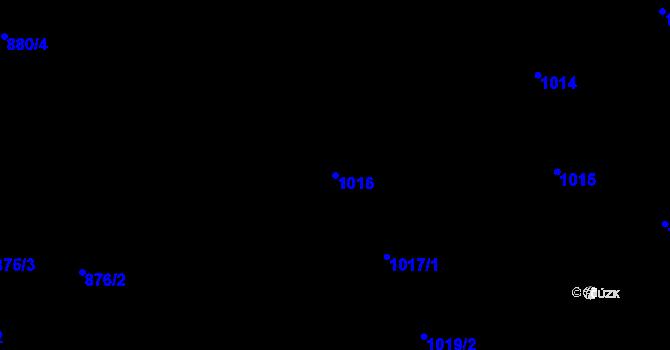 Parcela st. 1016 v k.ú. Lhotka, Katastrální mapa