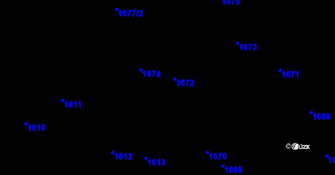 Parcela st. 1672 v k.ú. Chodov, Katastrální mapa