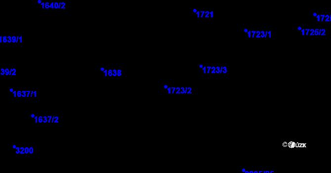 Parcela st. 1723/2 v k.ú. Chodov, Katastrální mapa