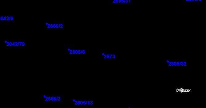 Parcela st. 2673 v k.ú. Chodov, Katastrální mapa