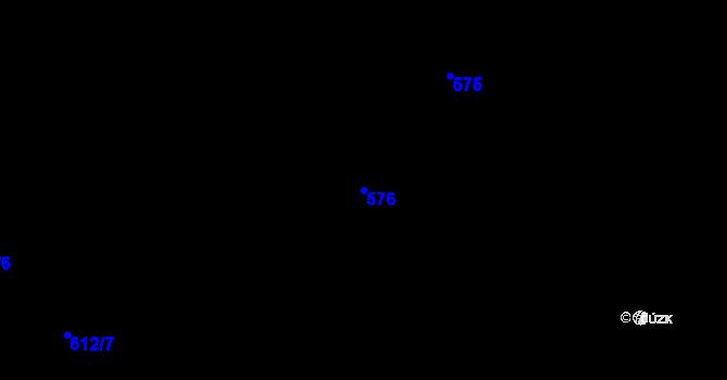 Parcela st. 576 v k.ú. Holešovice, Katastrální mapa