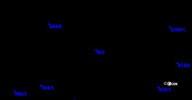 Parcela st. 602 v k.ú. Holešovice, Katastrální mapa