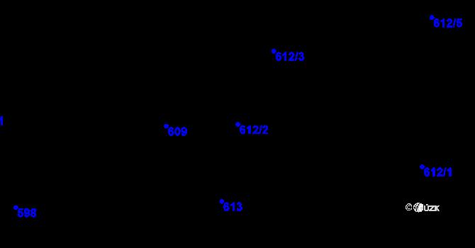 Parcela st. 612/2 v k.ú. Holešovice, Katastrální mapa