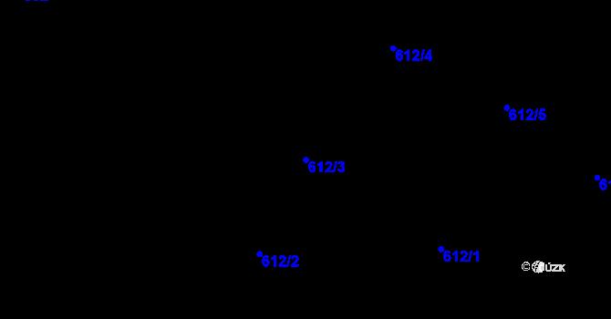 Parcela st. 612/3 v k.ú. Holešovice, Katastrální mapa
