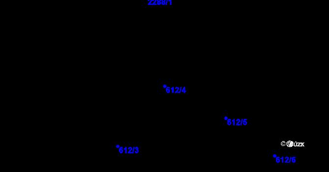 Parcela st. 612/4 v k.ú. Holešovice, Katastrální mapa