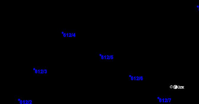 Parcela st. 612/5 v k.ú. Holešovice, Katastrální mapa