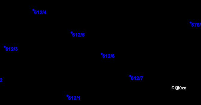 Parcela st. 612/6 v k.ú. Holešovice, Katastrální mapa