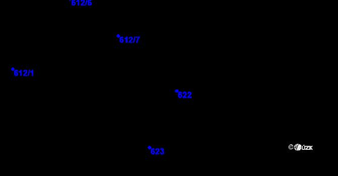 Parcela st. 622 v k.ú. Holešovice, Katastrální mapa
