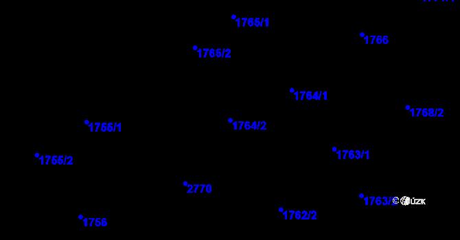 Parcela st. 1764/2 v k.ú. Kyje, Katastrální mapa