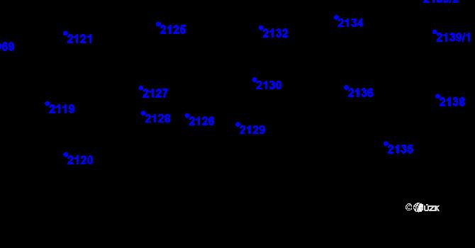 Parcela st. 2129 v k.ú. Strašnice, Katastrální mapa