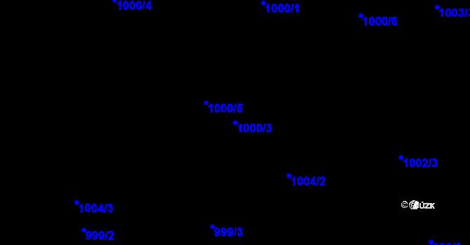 Parcela st. 1000/3 v k.ú. Proseč nad Nisou, Katastrální mapa