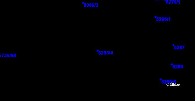 Parcela st. 5295/4 v k.ú. Prostějov, Katastrální mapa