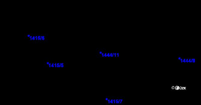 Parcela st. 1444/11 v k.ú. Pudlov, Katastrální mapa