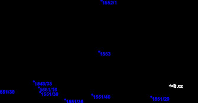 Parcela st. 1553 v k.ú. Rajhrad, Katastrální mapa