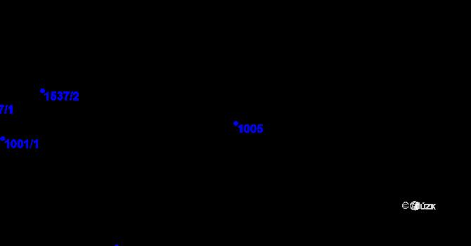 Parcela st. 1005 v k.ú. Rejchartice u Šumperka, Katastrální mapa