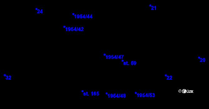 Parcela st. 1954/47 v k.ú. Roztoky u Semil, Katastrální mapa