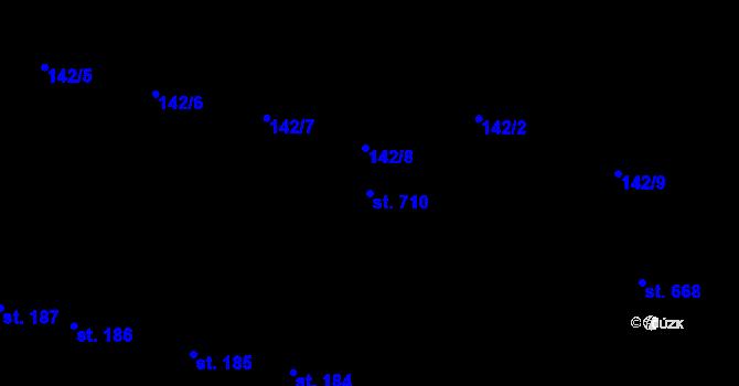 Parcela st. 710 v k.ú. Rožďalovice, Katastrální mapa