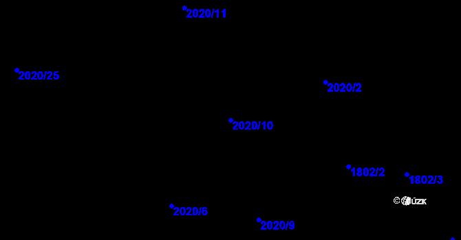 Parcela st. 2020/10 v k.ú. Rychvald, Katastrální mapa