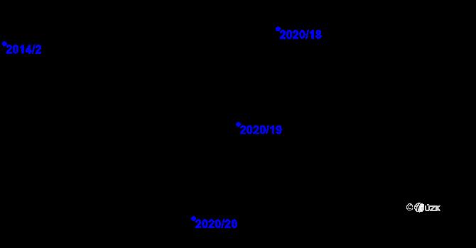 Parcela st. 2020/19 v k.ú. Rychvald, Katastrální mapa