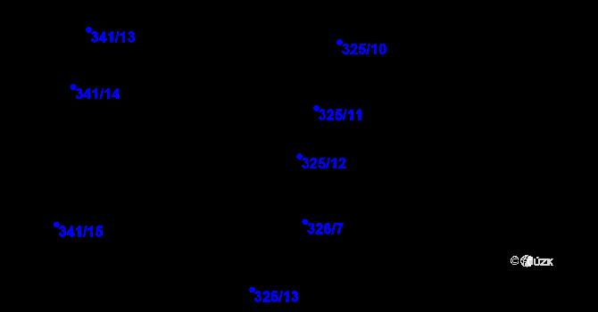 Parcela st. 325/12 v k.ú. Salaš u Zlína, Katastrální mapa