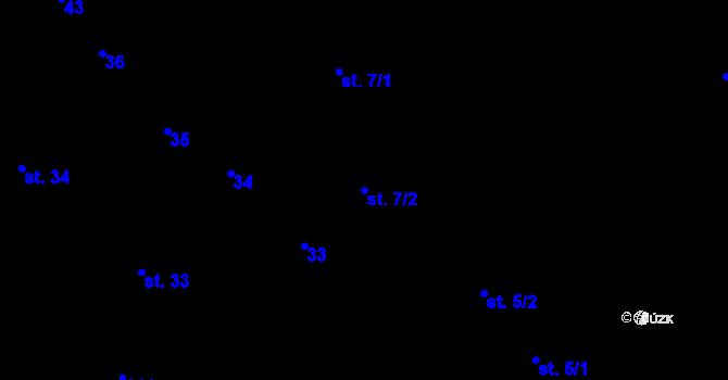 Parcela st. 7/2 v k.ú. Sedlejov, Katastrální mapa