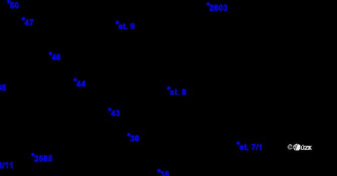 Parcela st. 8 v k.ú. Sedlejov, Katastrální mapa