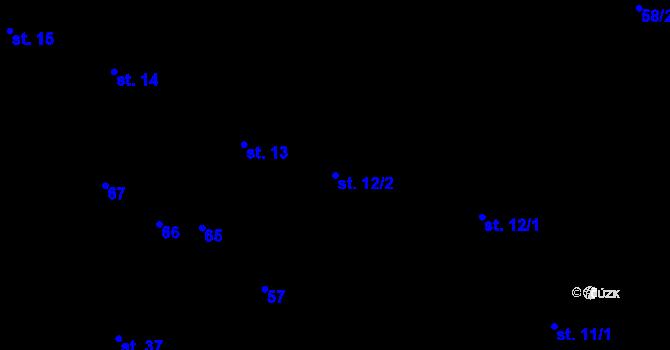 Parcela st. 12/2 v k.ú. Sedlejov, Katastrální mapa